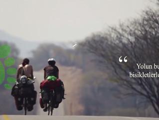 Yolun bundan sonrasına bisikletlerle devam edeceğiz!