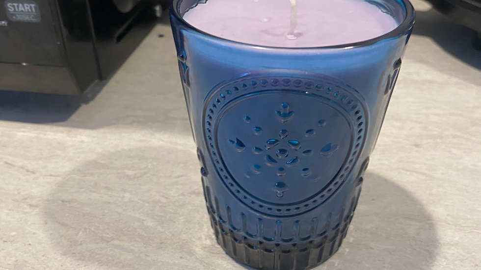 Lilllac & Lilliy - Cobalt Blue Glass Candle