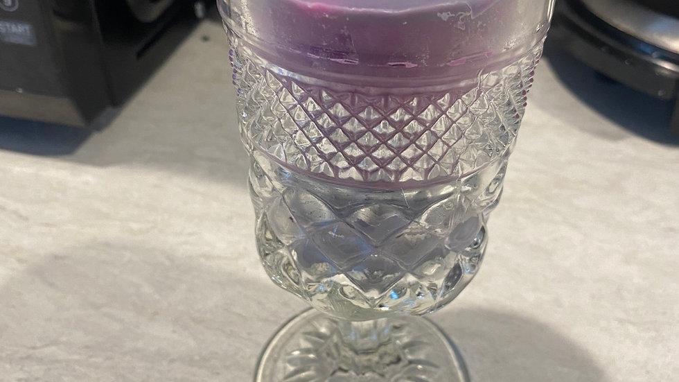 Rose & Violet - Goblet Glass Candle