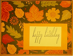 Sample birthday card hand-made by the CSN Community Card Project