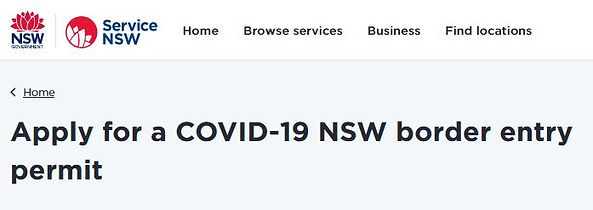 Apply for a COVID-19 NSW Border Entry Pe