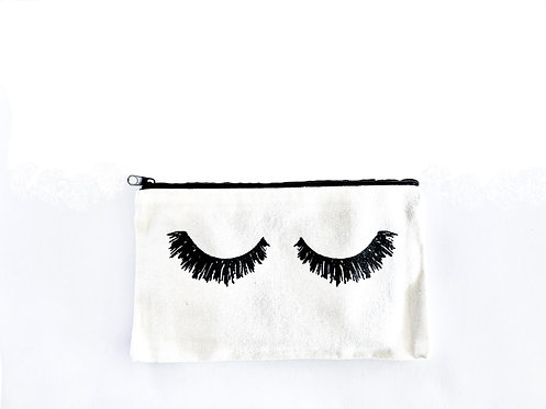 Lashes Canvas Cosmetic bag