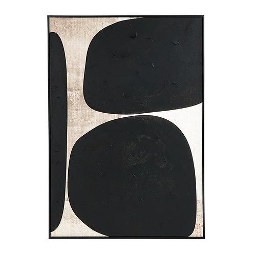 Pomax Dolmen canvas zwart/ wit
