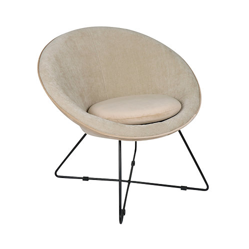 Pomax fauteuil Garbo beige