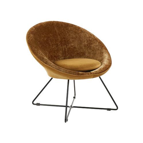 Pomax fauteuil Garbo karamel