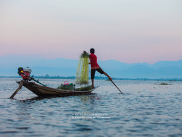 The floating village at Inle Lake