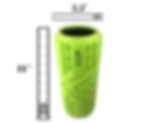 The Arrow™ High Density Foam Roller by D-Fit by Deawna specs