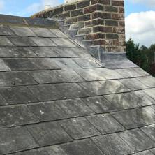 Lead step flashing detail to chimneys