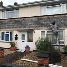 Vertical tiles & porch roof