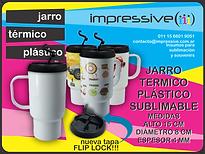 JARRO TERMICO PLASTICO SUBLIMABLE