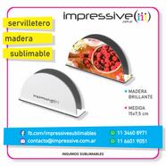 SERVILLETERO MADERA BRILLANTE SUBLIMABLE