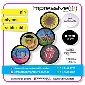 PIN POLYMER SUBLIMABLE