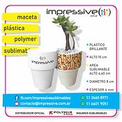 MACETA PLASTICA POLYMER SUBLIMABLE