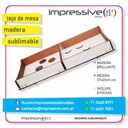 TEJO DE MESA MADERA BRILLANTE SUBLIMABLE