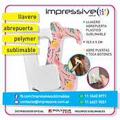 LLAVERO ABREPUERTA POLYMER SUBLIMABLE