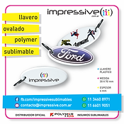 LLAVERO OVAL SUBLIMABLE POLYMER