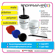 MATE PLASTICO POLYMER SUBLIMABLE