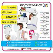 LLAVEROS PLASTICOS POLYMER SUBLIMABLES