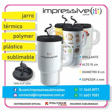 JARRO TERMICO PLASTICO POLYMER SUBLIMABL