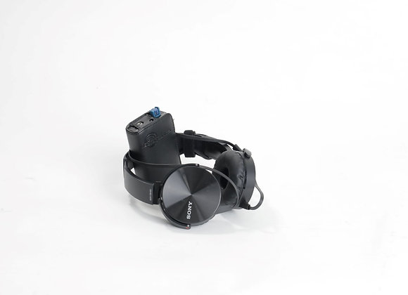 Lectrosonic R1A IFB Receivers with headphones