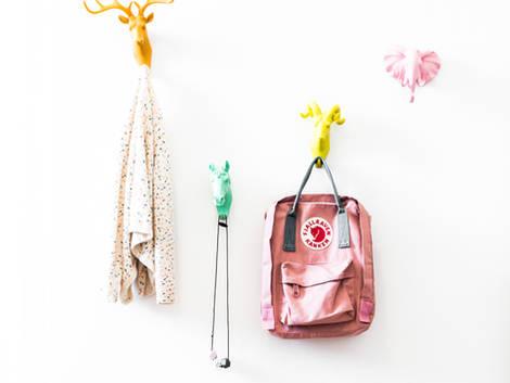 Bag rack in the children's room