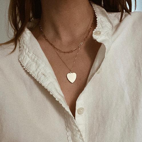 14K heart chain