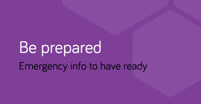 Be prepared: emergency information for admission to hospital