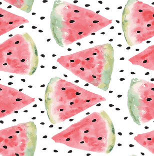 Aquarell Watermelon Drucken