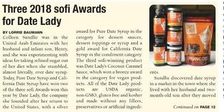 Date Lady wins 3 sofi awards