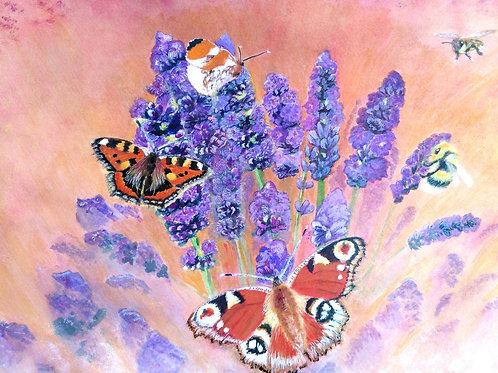 Butterflies & Bees PRINT
