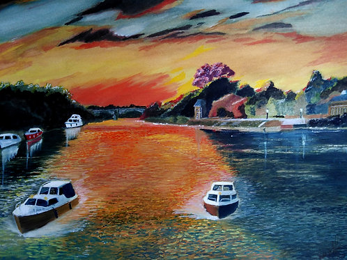 Thames Sunset - ORIGINAL