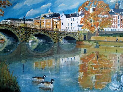 Richmond Bridge, River Thames - PRINT