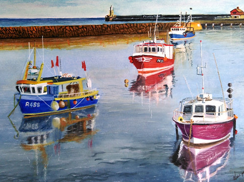 Harbour Fishing Boats - ORIGINAL