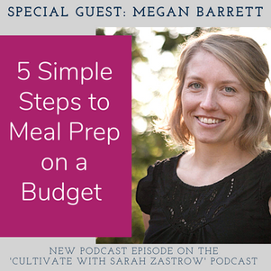 5 Simple Steps to Meal Prep, and Meal Plan on a Budget with Megan Barrett