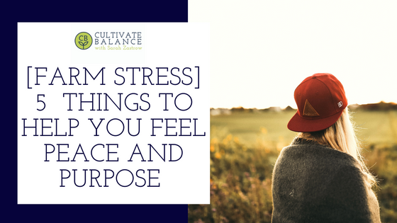 5 Things That Help You to Feel Peace and Purpose on Your Farm