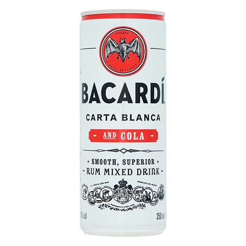 Bacardi cola mixdrank 25cl