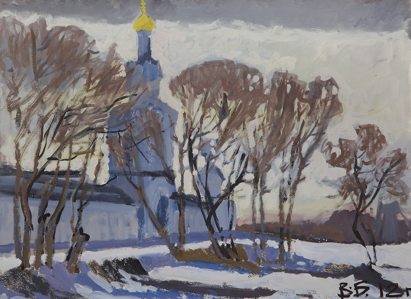Владислав Булганин «Колокольня Юрьева монастыря»