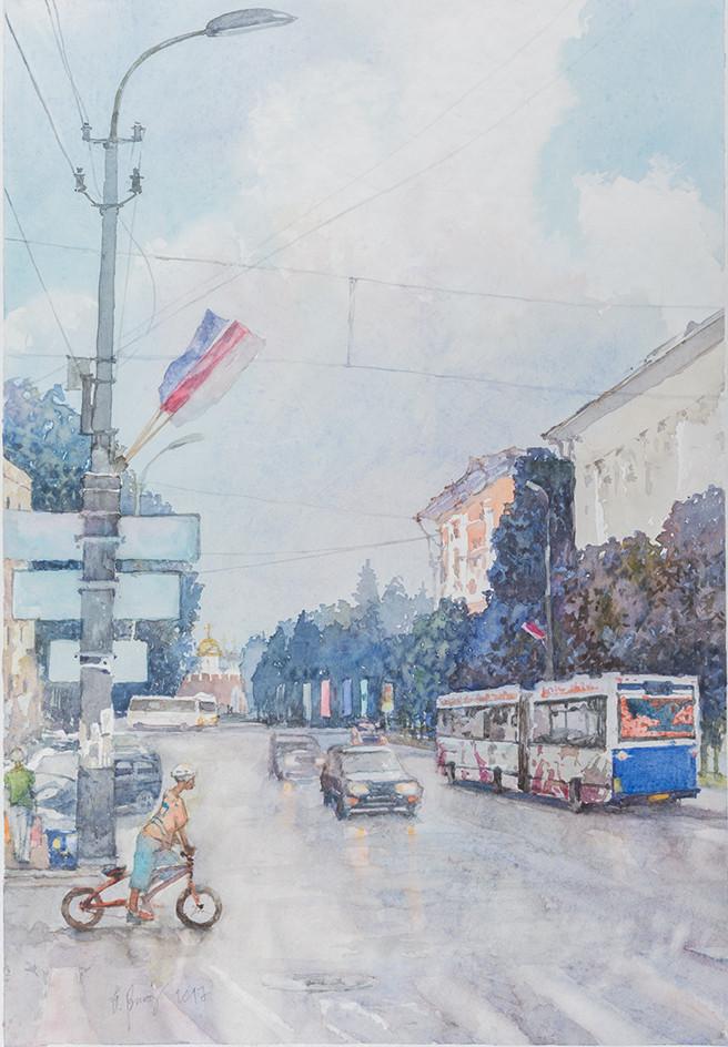 Олег Васильев «Переход. Ул.Большая Санкт- Петербургская в В.Новгороде»