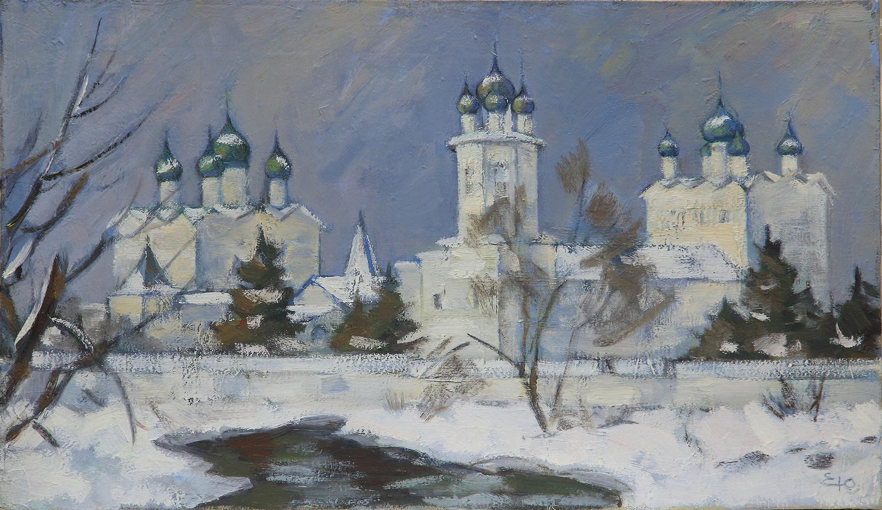 Юрий Ерышев «Этюд Николо-Вяжищского монастыря»