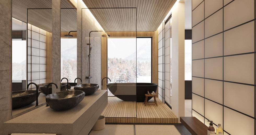 Raku Ichi Residences bathroom