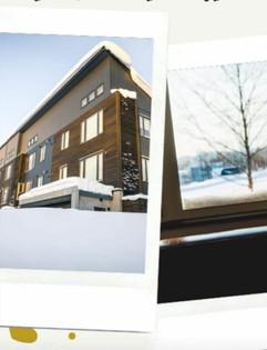 SnowDog Village postcard