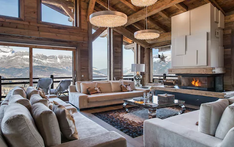 Living room, alpine lodge