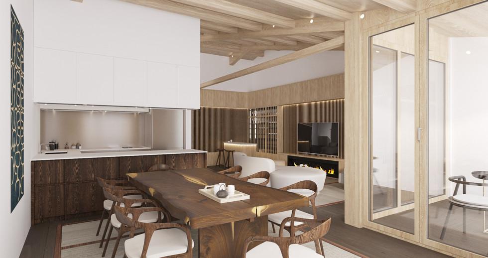 Raku Ichi Residences dinning room