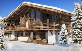Wooden alpine chalet