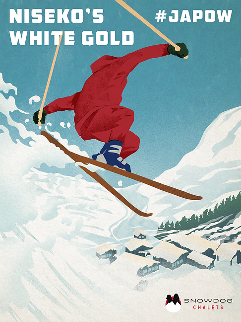 SnowDog Chalets-Niseko's-White-Gold-JAPOW-posters