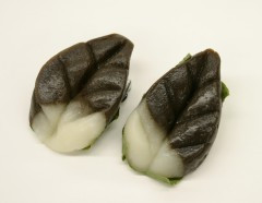 Ainu traditional sweets, bekomochi, made of rice flour, they are very popular in Hokkaido!