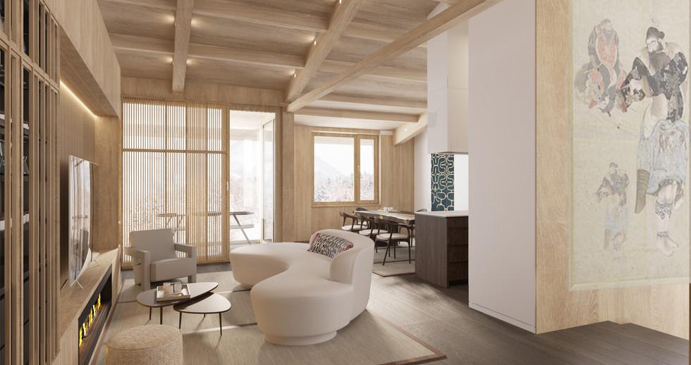 Raku Ichi Residences living room