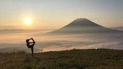 yoga at the top of mount annupuri