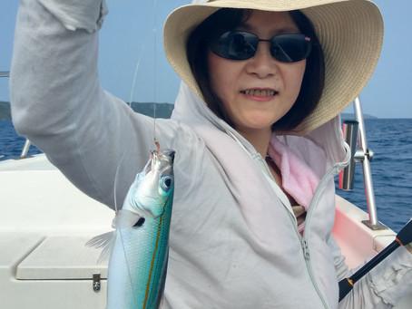 宮古島 釣り体験ツアー グルクン釣り 岐阜県からお越しのY様御一行