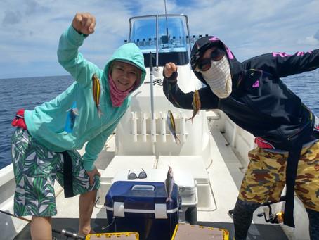 宮古島 釣り体験ツアー 岡山県からお越しのH様、大阪府からお越しのE様御一行